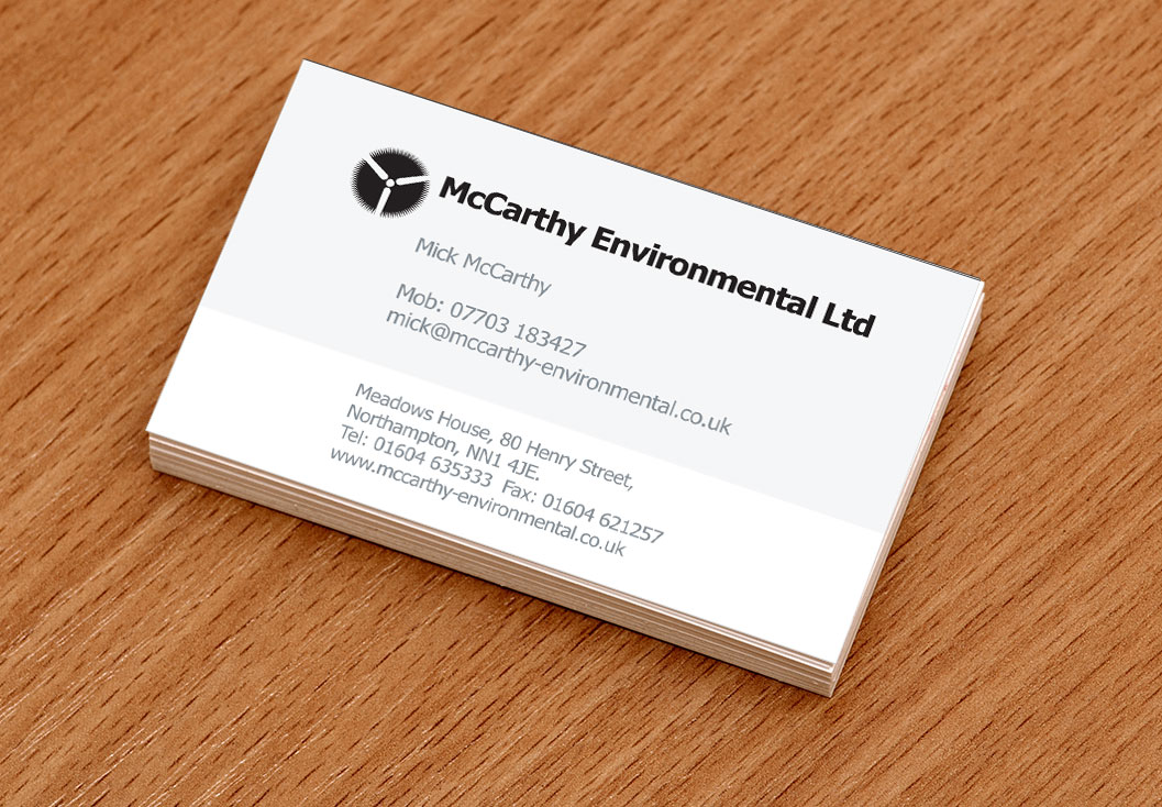 Business Card Design and Production by Media Identity Northampton