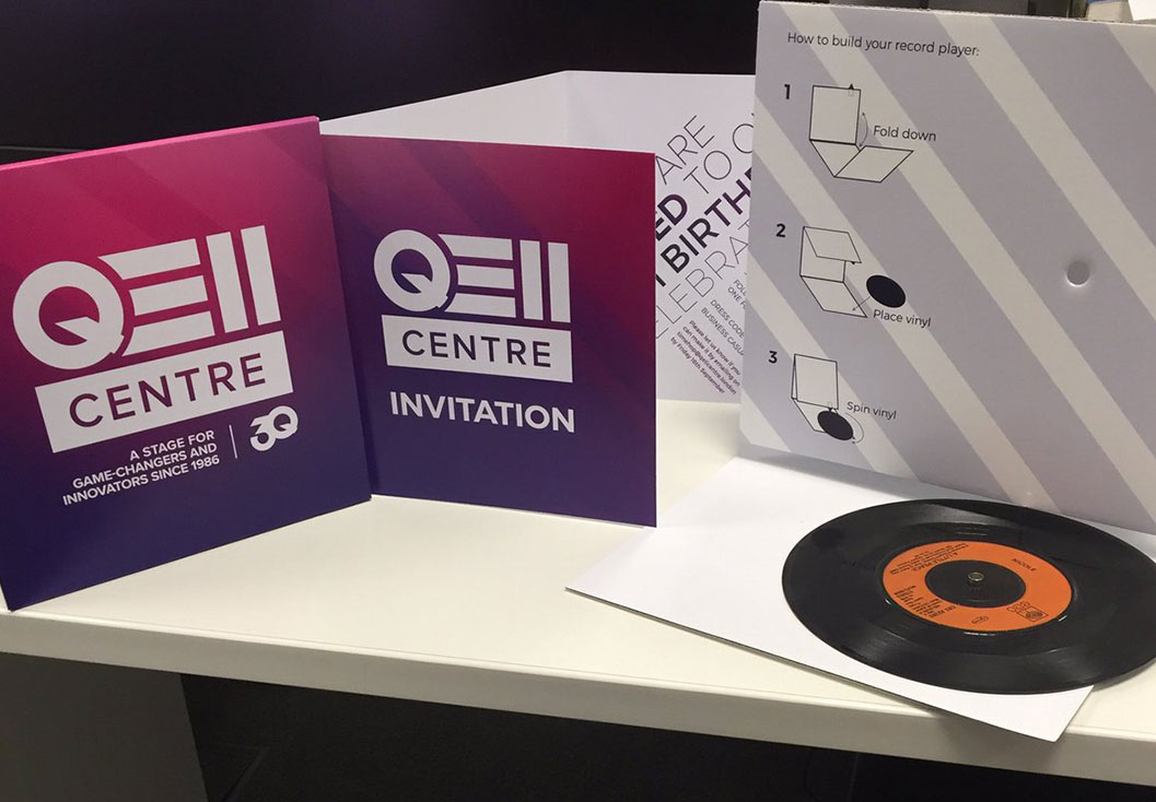 30th Birthday invitation for the QEII Centre by Media Identity Northampton