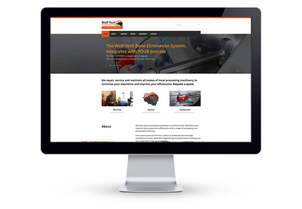 Wolf-Tech Engineering Website Designed by Media Identity
